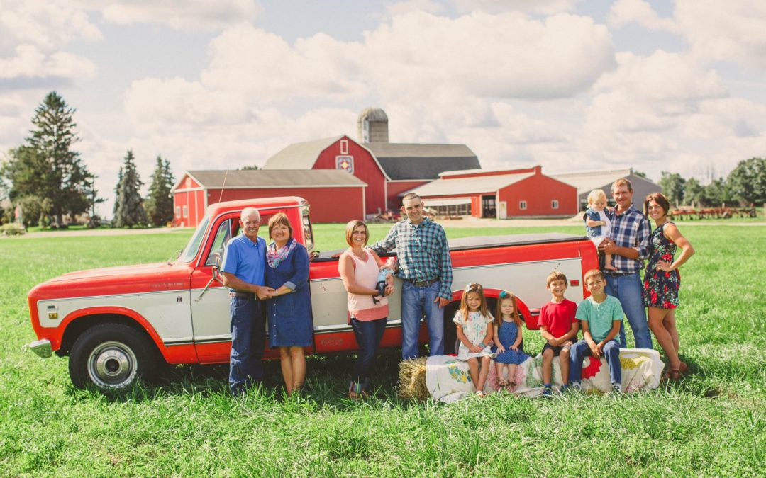 Michigan farm family
