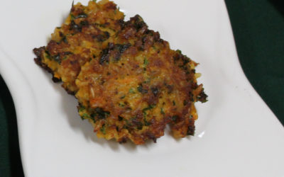 Kale and carrot fritters