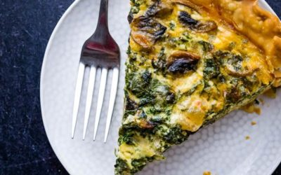 Kale Quiche with Savory Whipped Cream
