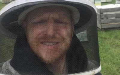 Jesse Jensen, beekeeper at Greene's Honey Farm