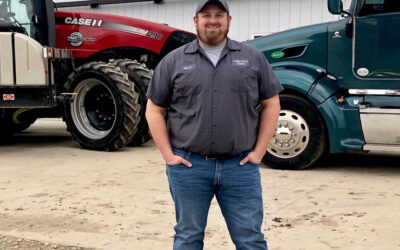 Riley Brazo, Farmhand and truck driver at Fawn River Farms